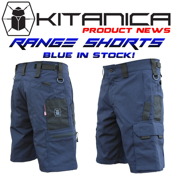 RANGE SHORTS IN BLUE NOW IN STOCK!